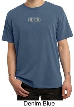 Mens Yoga T-shirt ? AJNA Chakra Meditation Adult Pigment Dyed Shirt