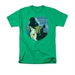 Alien Shirt Don't Care Kelly Green T-Shirt
