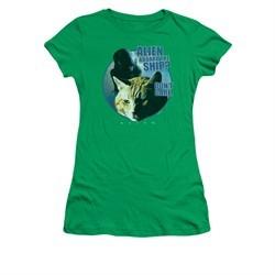 Alien Shirt Juniors Don't Care Kelly Green T-Shirt
