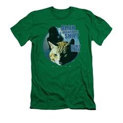 Alien Shirt Slim Fit Don't Care Kelly Green T-Shirt