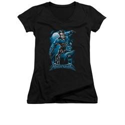 All Grown Up DC Comics Shirt Juniors V Neck All Grown Up Black Tee T-Shirt