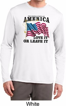 America Love It or Leave It Mens Dry Wicking Long Sleeve Shirt
