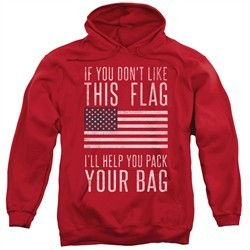 American Flag Hoodie Pack Your Bag Red Sweatshirt Hoody