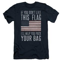 American Flag Slim Fit Shirt Pack Your Bag Navy T-Shirt