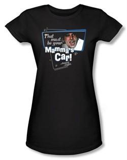 American Graffiti Juniors T-shirt Movie Mammas Car Black Tee Shirt