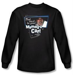 American Graffiti Long Sleeve T-shirt Movie Mammas Car Black Tee Shirt