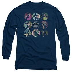 American Horror Story Long Sleeve Shirt Cabinet Of Curiosities Navy Blue Tee T-Shirt
