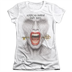 American Horror Story Shirt Fear Face Poly/Cotton Sublimation Juniors T-Shirt