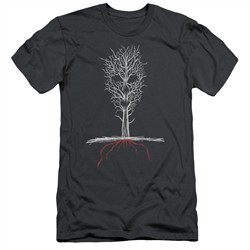 American Horror Story Slim Fit Shirt Scary Tree Charcoal T-Shirt