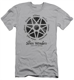 American Horror Story Slim Fit Shirt Seven Wonders Silver T-Shirt