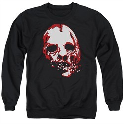 American Horror Story Sweatshirt Bloody Face Adult Black Sweat Shirt