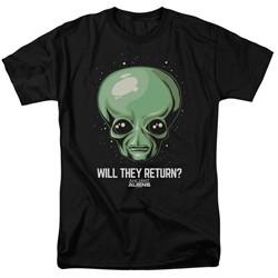Ancient Aliens Shirt Will They Return Black T-Shirt