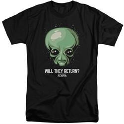 Ancient Aliens Shirt Will They Return Black Tall T-Shirt