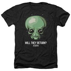 Ancient Aliens Shirt Will They Return Heather Black T-Shirt