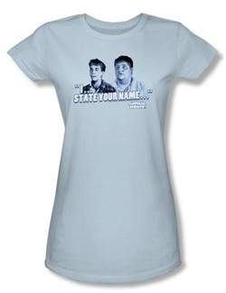 Animal House Juniors T-shirt Movie Pledge Light Blue Tee Shirt