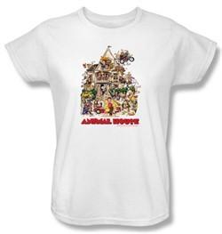 Animal House Ladies T-shirt Movie Poster Art White Tee Shirt