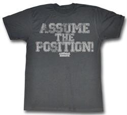Animal House Shirt Assume The Position! Charcoal T-Shirt