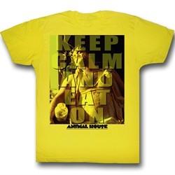 Animal House Shirt Keep Calm Adult Yellow Tee T-Shirt