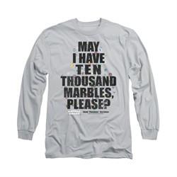 Animal House Shirt Marbles Long Sleeve Silver Tee T-Shirt