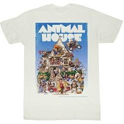 Animal House Shirt Poster Time Adult White Tee T-Shirt