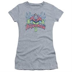 Aquaman Juniors Shirt Splish Splash Athletic Heather T-Shirt