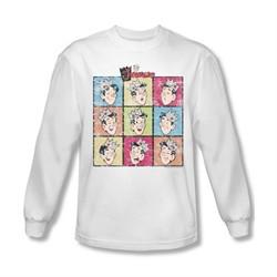 Archie Shirt Jughead Faces Long Sleeve White Tee T-Shirt