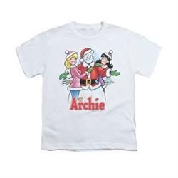 Archie Shirt Kids Snowman Fall White T-Shirt
