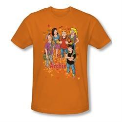 Archie Shirt Slim Fit Fall Orange T-Shirt
