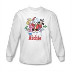 Archie Shirt Snowman Fall Long Sleeve White Tee T-Shirt