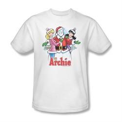 Archie Shirt Snowman Fall White T-Shirt