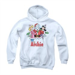 Archie Youth Hoodie Snowman Fall White Kids Hoody