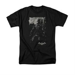 Arkham Knight Shirt Grey Photo Black T-Shirt