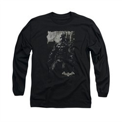 Arkham Knight Shirt Grey Photo Long Sleeve Black Tee T-Shirt