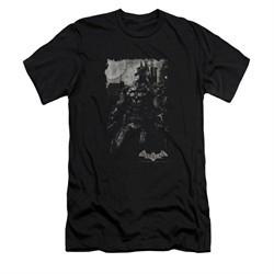 Arkham Knight Shirt Slim Fit Grey Photo Black T-Shirt