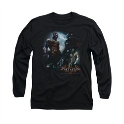 Arkham Knight Shirt Two Fighters Long Sleeve Black Tee T-Shirt