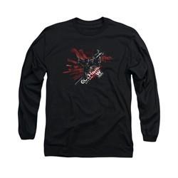 Arkham Knight Shirt W Tech Long Sleeve Black Tee T-Shirt