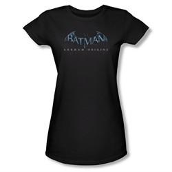 Arkham Origins Shirt Juniors Logo Black T-Shirt