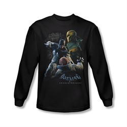 Arkham Origins Shirt Punch Long Sleeve Black Tee T-Shirt