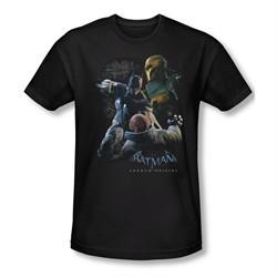 Arkham Origins Shirt Slim Fit Punch Black T-Shirt