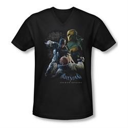 Arkham Origins Shirt Slim Fit V-Neck Punch Black T-Shirt