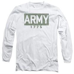 Army Long Sleeve Shirt 1775 White Tee T-Shirt