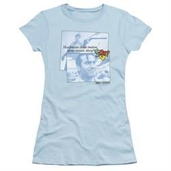 Army Of Darkness Juniors Shirt Shop S Mart Light Blue T-Shirt