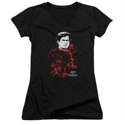 Army Of Darkness Juniors V Neck Shirt Pile Of Baddies Black T-Shirt