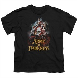 Army Of Darkness Kids Shirt Bloody Poster Black T-Shirt
