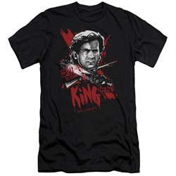 Army Of Darkness Slim Fit Shirt Hail To The King Black T-Shirt
