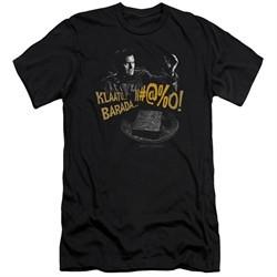 Army Of Darkness Slim Fit Shirt Klaatu...Barada Black T-Shirt