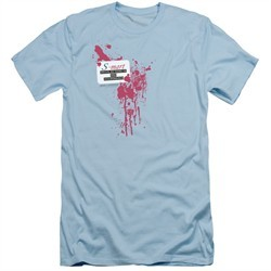 Army Of Darkness Slim Fit Shirt S Mart Name Tag Light Blue T-Shirt