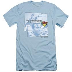 Army Of Darkness Slim Fit Shirt Shop S Mart Light Blue T-Shirt