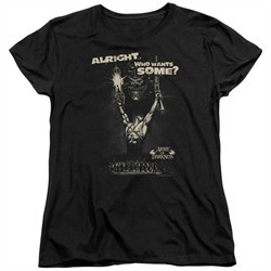 Army Of Darkness Womens Shirt Want Some Black T-Shirt