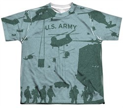 Army Shirt Airborne Sublimation Youth T-Shirt Front/Back Print